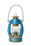 Old lantern. Old blue lantern isolated on white background Stock Image