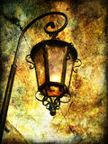 Old lantern. Artistic picture in grunge style Royalty Free Stock Images