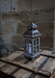 Old lantern in the ancient European city Stock Photos
