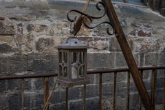 Old lantern in the ancient European city Royalty Free Stock Photos