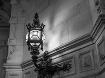 The old lantern in dark room, Hamburg Germany.  Stock Photo
