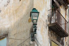 Old lantern in Funchal royalty free stock photography