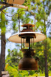 Old lantern hang on wood Royalty Free Stock Images