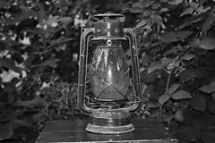 Old lantern. The old lantern has found its place in my backyard Royalty Free Stock Images