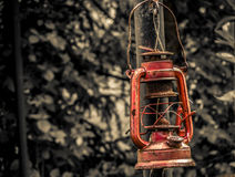 Old lantern. An old oil lamp, which is no longer used Stock Photography