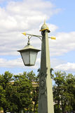 Old lantern in St. Petersburg. Near the Peter and Paul Fortress Royalty Free Stock Photos