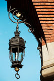Old lantern on the street of Krakow Stock Image