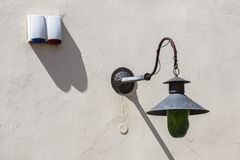 Old lantern on the wall. Stock Photography