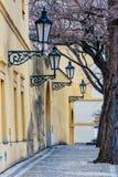 Old lanterns at Loreta square, pilgrimage site in Prague,. Czech Republic Stock Photo