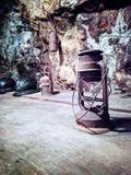 Old lanterns, used inside the Calamita mine. In Capoliveri, Tuscany Royalty Free Stock Image