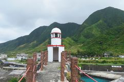 Old Lanyu lighthouse in Kaiyuan harbour, Lanyu township Orchard island, Taiwan
