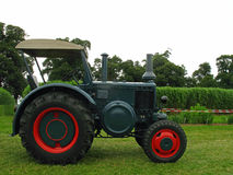Old Lanz tractor. With a luxury equipment Royalty Free Stock Image