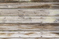 Old lapboard siding and nails Stock Photos