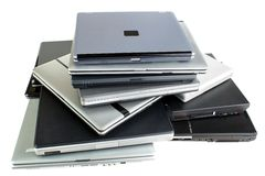Old laptops Royalty Free Stock Photo