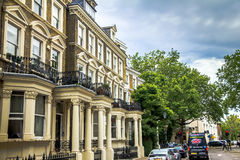 Old large apartment  houses in the area  Kensington Olympia, London Royalty Free Stock Image