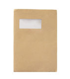 Old Large Manila Envelope isolated on white stock image