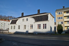 Old large wooden house in Halden Royalty Free Stock Photography