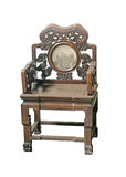 Old large wooden polished chinese chair Royalty Free Stock Photo