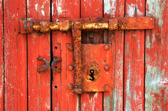 Old latch. Old fashioned latch on stable door Royalty Free Stock Photography