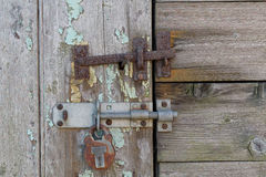 Old Latch and Lock Stock Photo