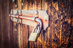 Old latch of a main door Stock Image