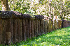 Old laterite fence Stock Photography