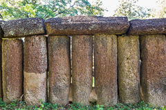 Old laterite fence Royalty Free Stock Photo