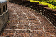 Old laterite ground ,Tiled Pavement. Picture of old laterite ground ,Tiled Pavement Royalty Free Stock Image