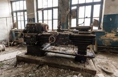 Old lathe Royalty Free Stock Photos