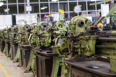 Old lathe machines Royalty Free Stock Photography
