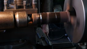 The old lathe stock footage