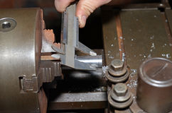 Old lathe. Royalty Free Stock Photos