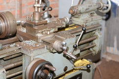 Old lathe. Stock Photo