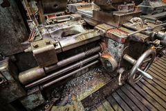 Old lathe. While working on the workshop Stock Photography