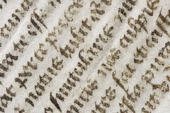 Old latin bible detail Royalty Free Stock Image
