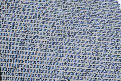 Old latin text in stone. Prague, Czech Royalty Free Stock Images