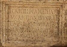 Old Latin Writing Royalty Free Stock Photos