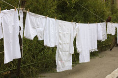 Old laundry line Royalty Free Stock Photography