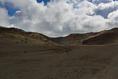 Old lava fields on slopes of volcanoes Tolbachik Stock Photography