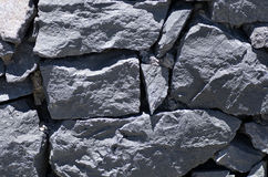 Old lava stone wall Royalty Free Stock Image
