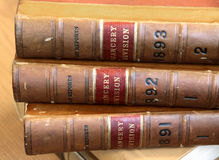 Old law books Royalty Free Stock Images