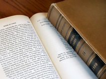 Old law books Stock Photos