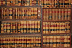 Old law books from 1800's. A collection of old law books from the 1800's. Taken in the Wild West town of Tombstone, AZ 2016 Royalty Free Stock Image