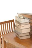 Old Law Books on Table Royalty Free Stock Images