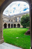 Old law quadrangle at the University of Melbourne, Australia Royalty Free Stock Images