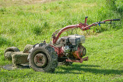Old Lawn mower use oil Royalty Free Stock Photo