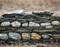 Old Layered Stone Wall Royalty Free Stock Photo