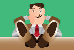 Old Lazy Boss Royalty Free Stock Photography