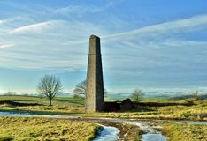 Old lead mine. Remains of a old lead mine chimney stack Royalty Free Stock Photography