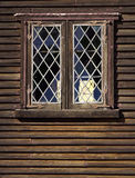 Old Lead Windows. On the historical houses at strawberry banke stock image